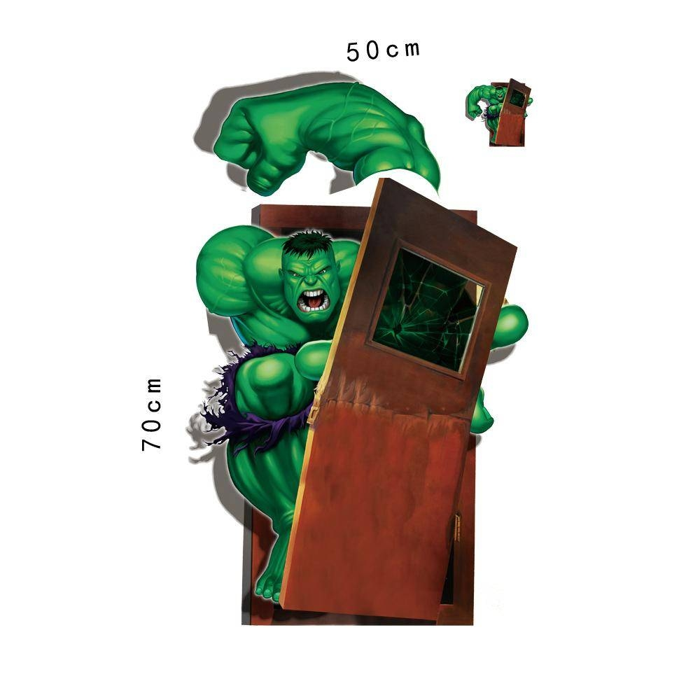 The Cartoon Hulk Wall Art Stickers The Avengers Alliance 3d Wall Intended For Most Popular Avengers 3d Wall Art (View 14 of 20)