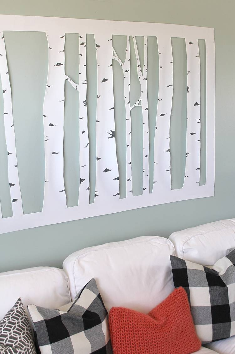 The Craft Patch: Large, Inexpensive Diy Aspen Tree Wall Art With Most Current Aspen Tree Wall Art (View 14 of 20)