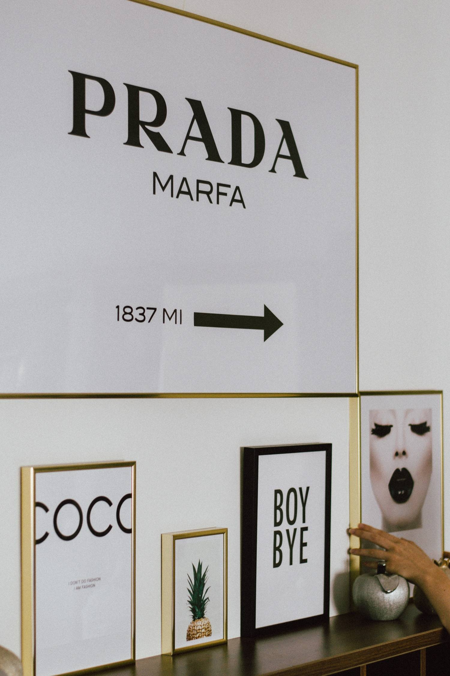 The Easy Way To Redecorating Your Home With Prints • Couturezilla For Most Popular Prada Marfa Wall Art (View 22 of 25)