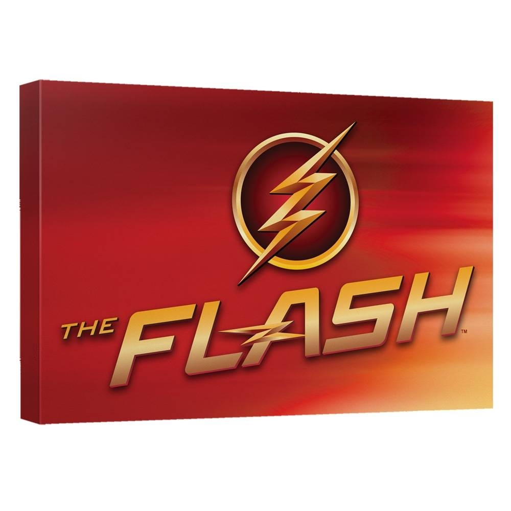 The Flash Custom Tv Logo Canvas Wall Art With Backboard Regarding Most Up To Date Red Sox Wall Art (View 21 of 23)