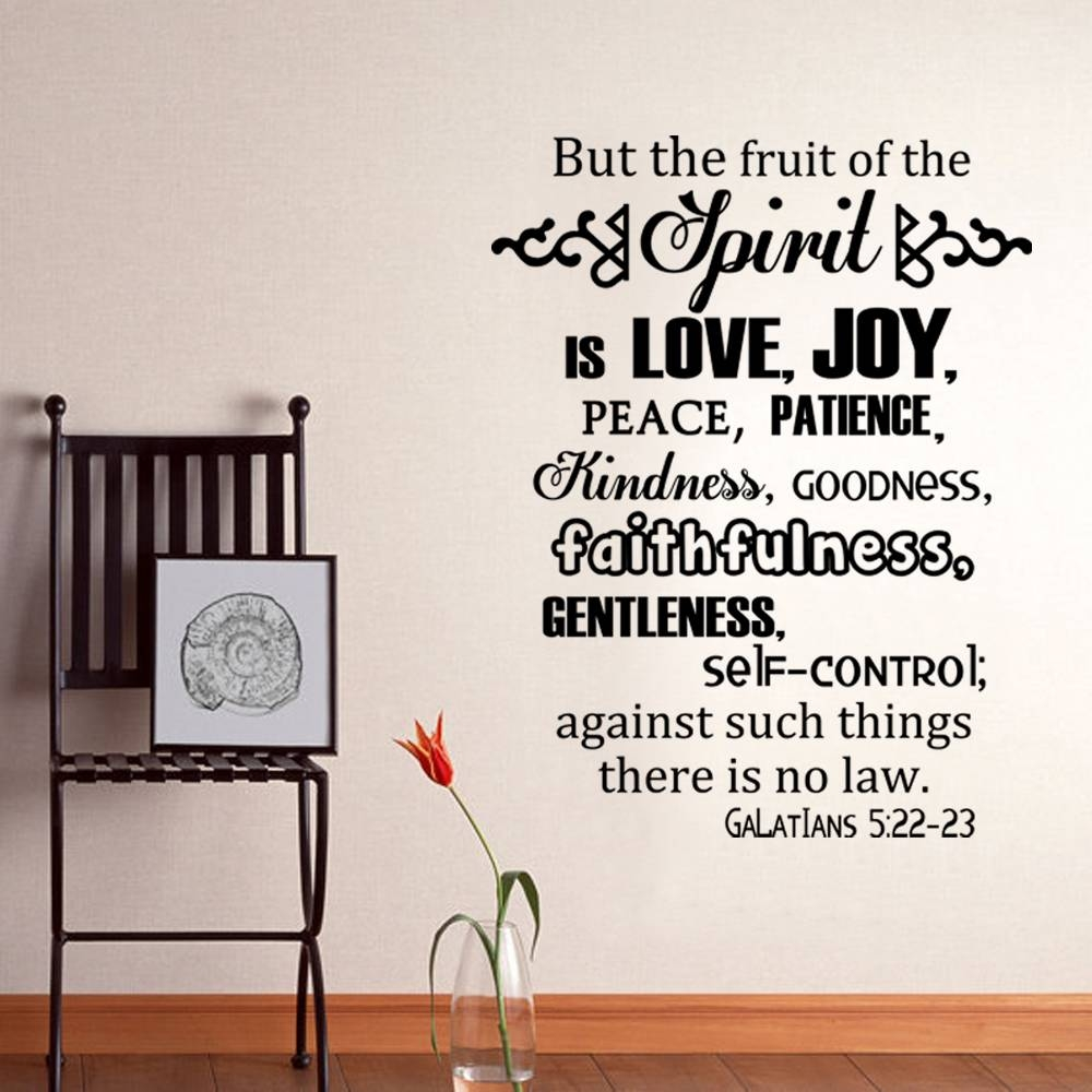 The Fruits Of The Spirit Galatians 5:22 23 Scripture Vinyl Wall Intended For Newest Fruit Of The Spirit Wall Art (View 9 of 30)
