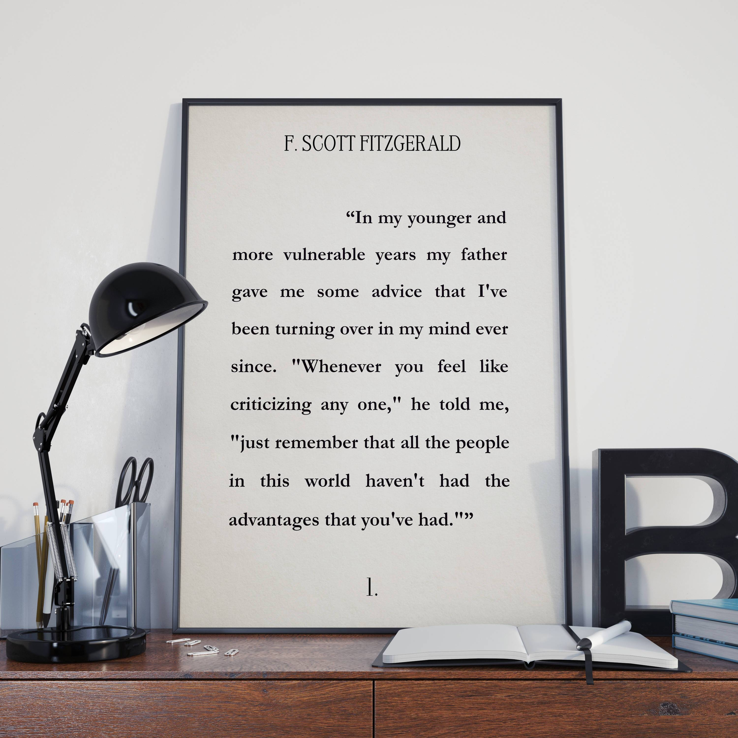 The Great Gatsby Literary Print Book Wall Art F (View 16 of 20)