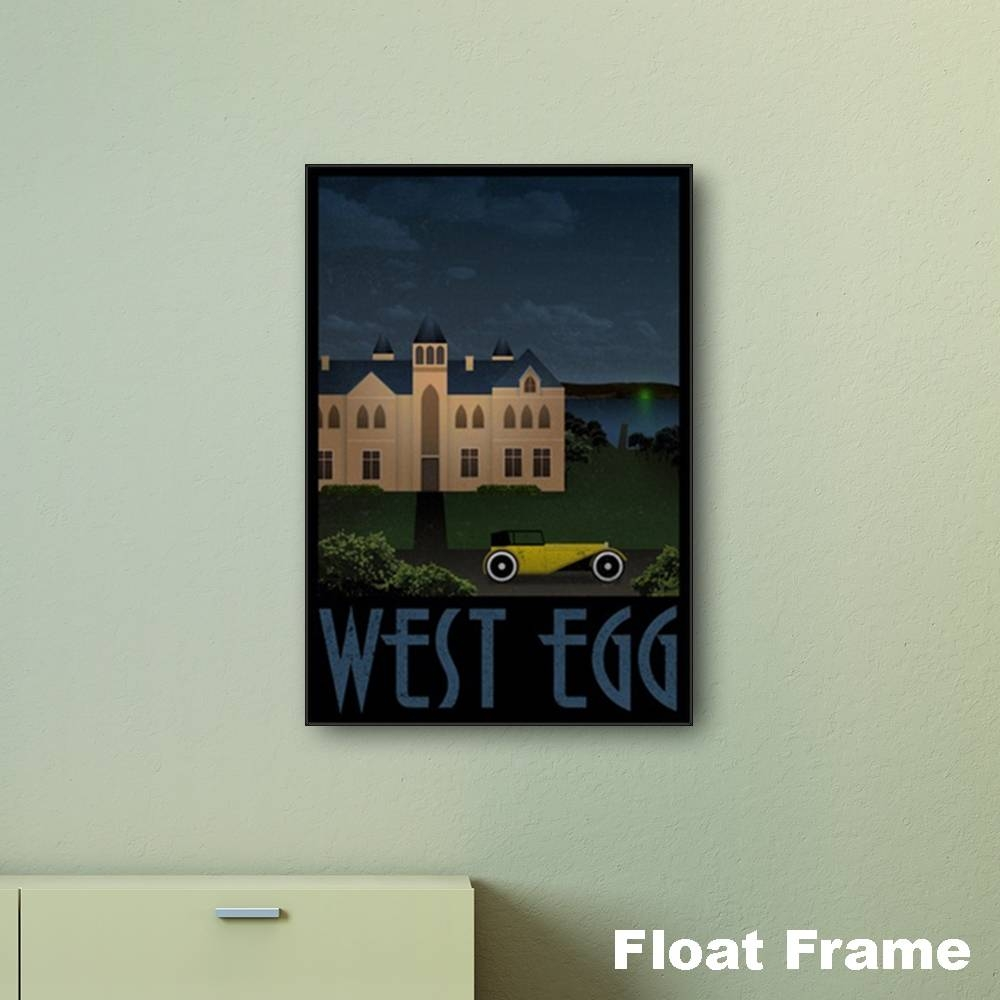 The Great Gatsby – West Egg Travel Print Wall Art | Numonday Within 2018 Great Gatsby Wall Art (View 15 of 20)