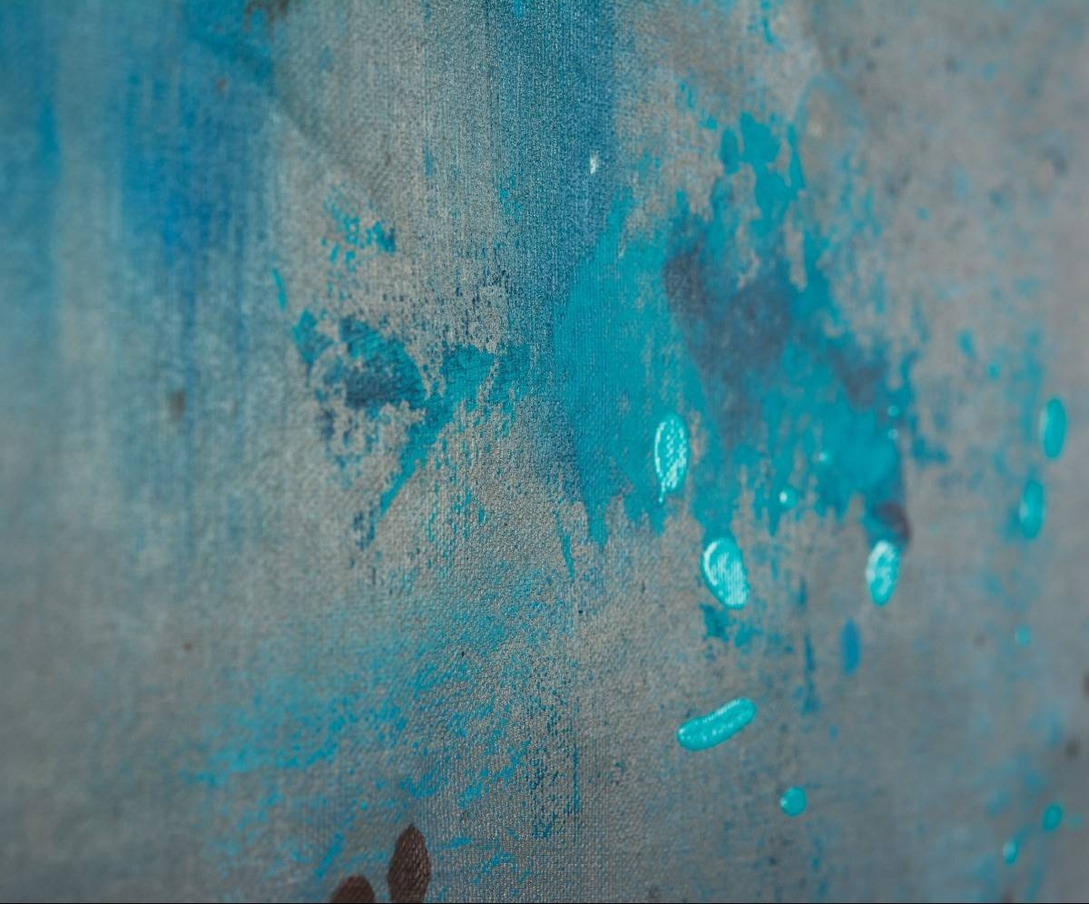 "The Mistqiqigallery 70""x24"" Un Stretched Canvas Original For Newest Turquoise And Brown Wall Art (View 20 of 25)"