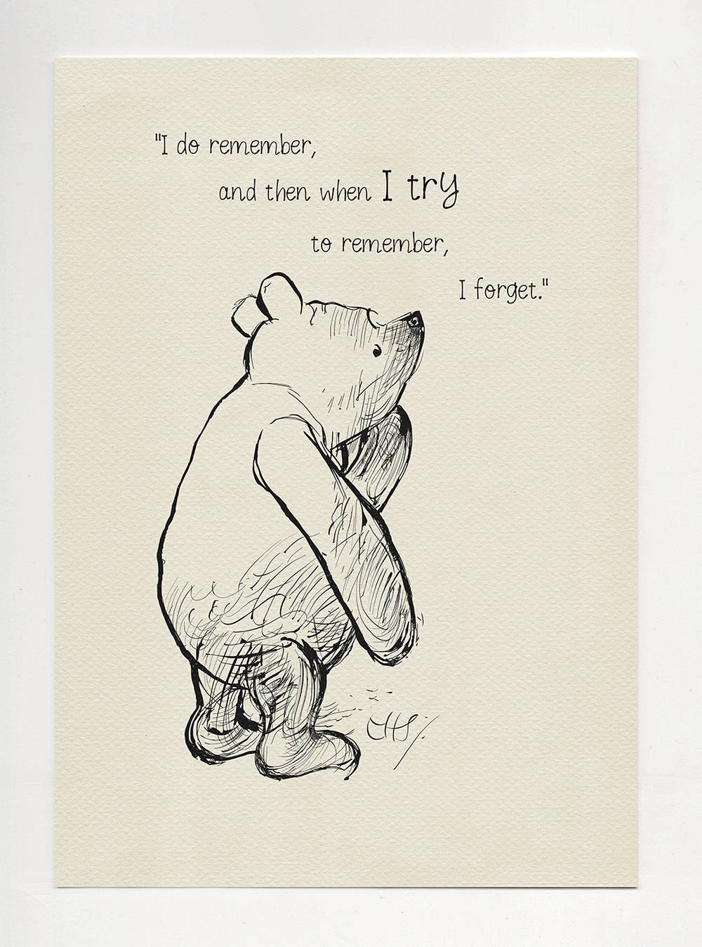 The Old Grey Donkey Eeyore Winnie The Pooh Quotes Inside Most Up To Date Classic Pooh Art (View 11 of 20)