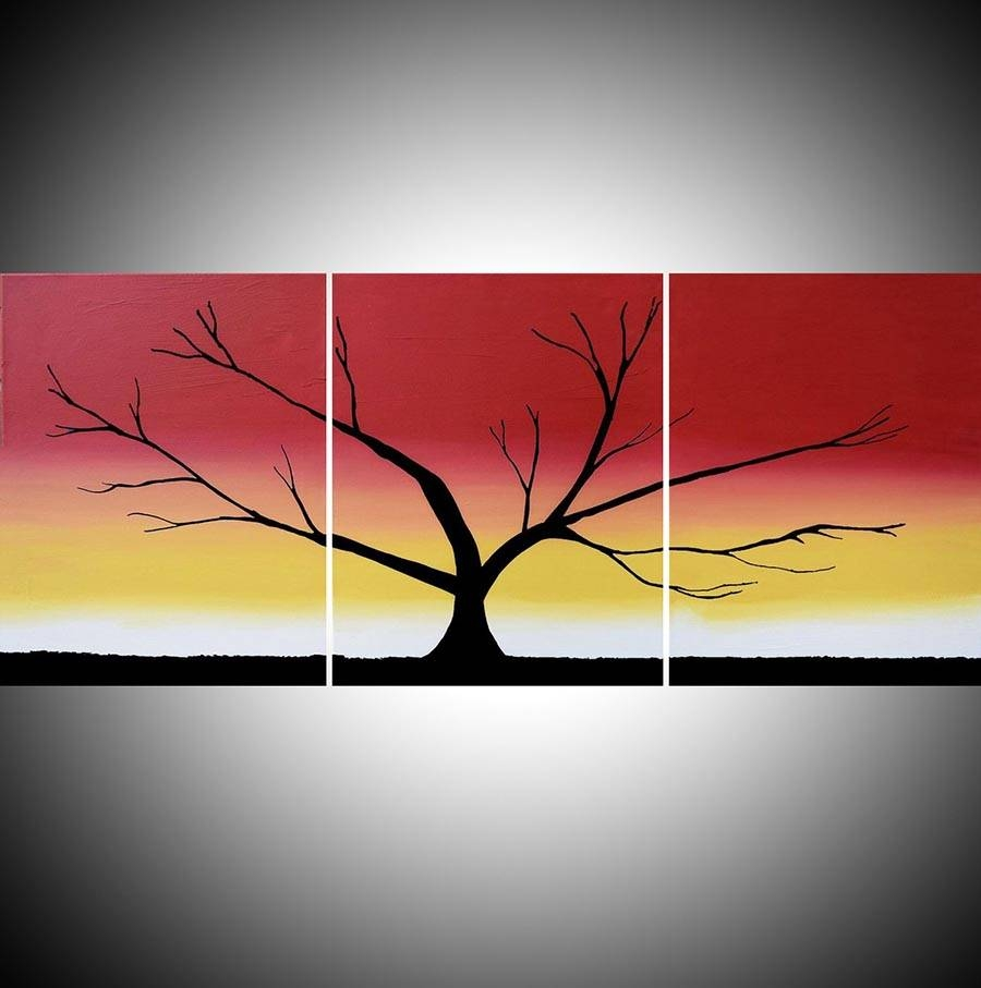 """The Rainbow Tree"""" Acrylic Tree Painting,happy Tree Painter Regarding Most Recent Triptych Art For Sale (View 5 of 20)"""