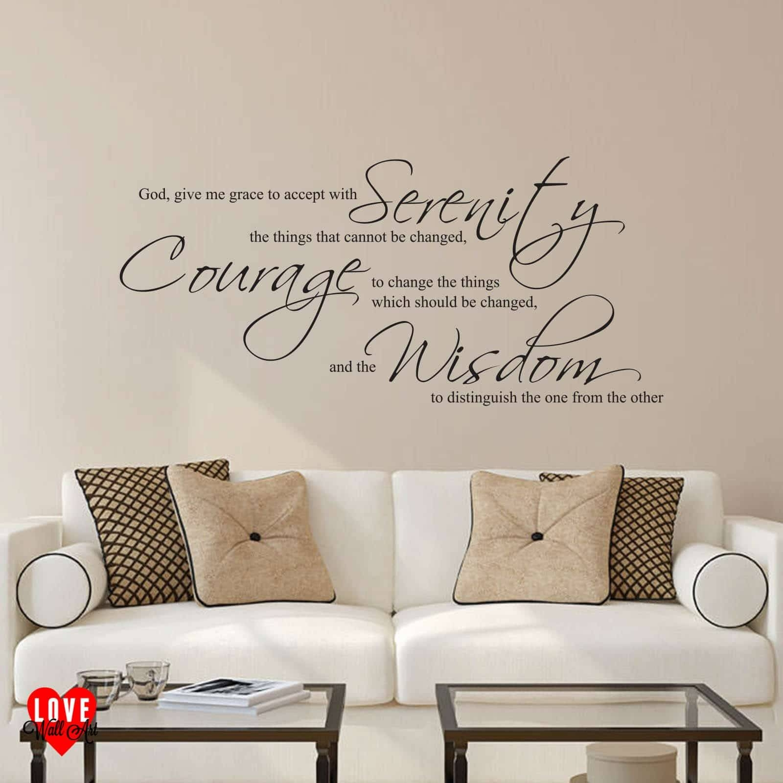 The Serenity Prayer Wall Art Sticker Throughout Recent Grace Wall Art (Gallery 22 of 25)
