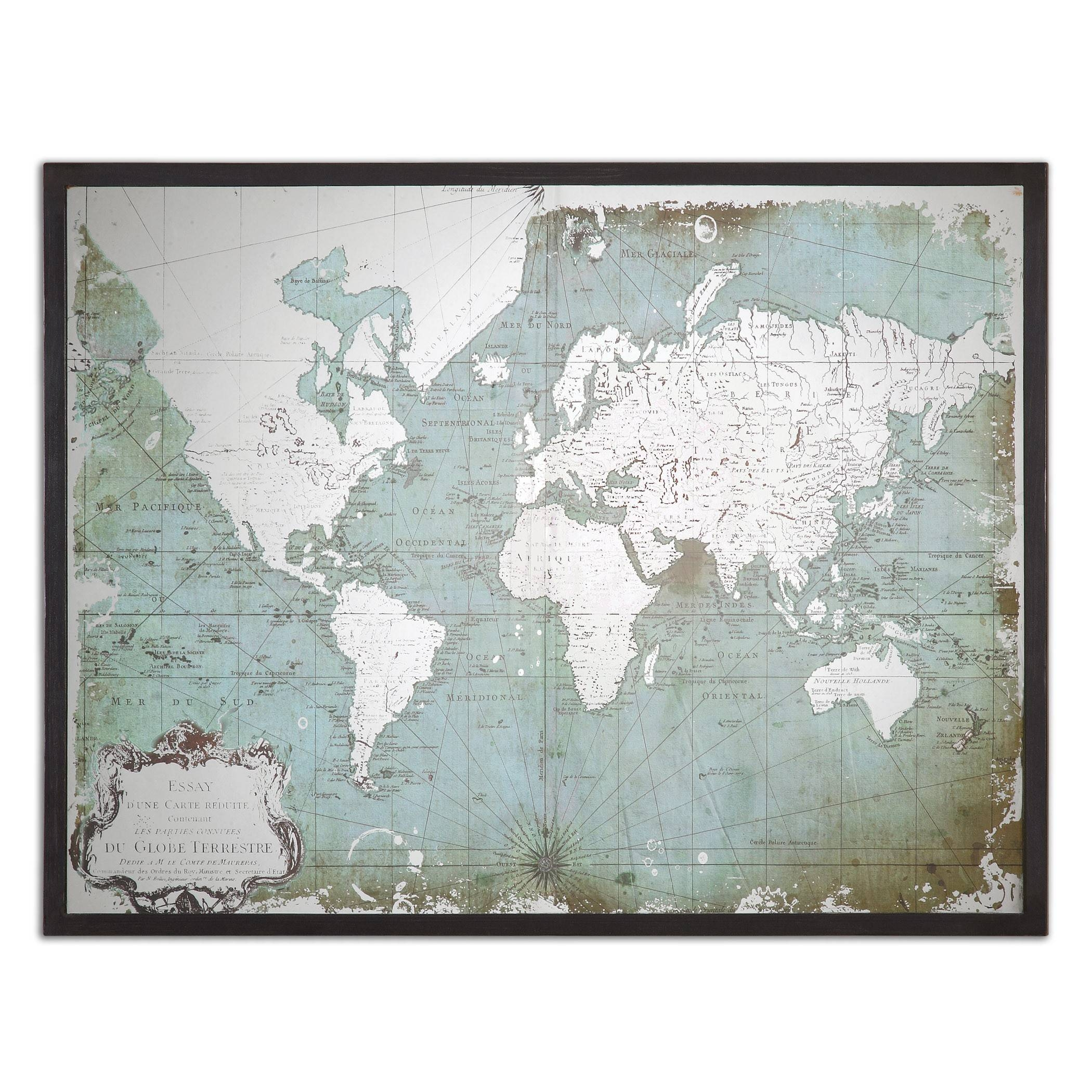 The Well Appointed House – Luxuries For The Home – The Well For Most Up To Date Framed World Map Wall Art (View 11 of 20)