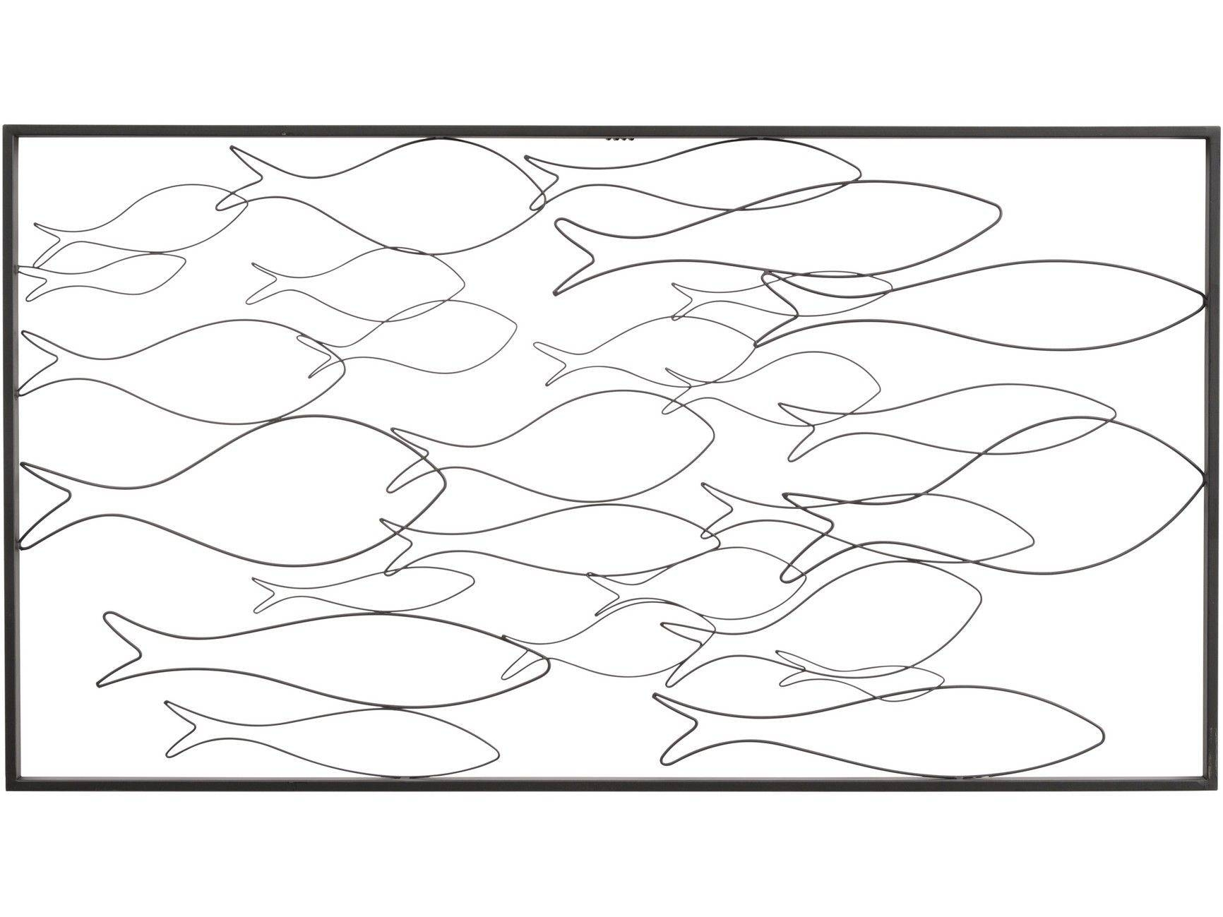 Thelibracompany The Libra Company Black Fish Shoal Wall Art For Most Current Fish Shoal Wall Art (View 13 of 25)