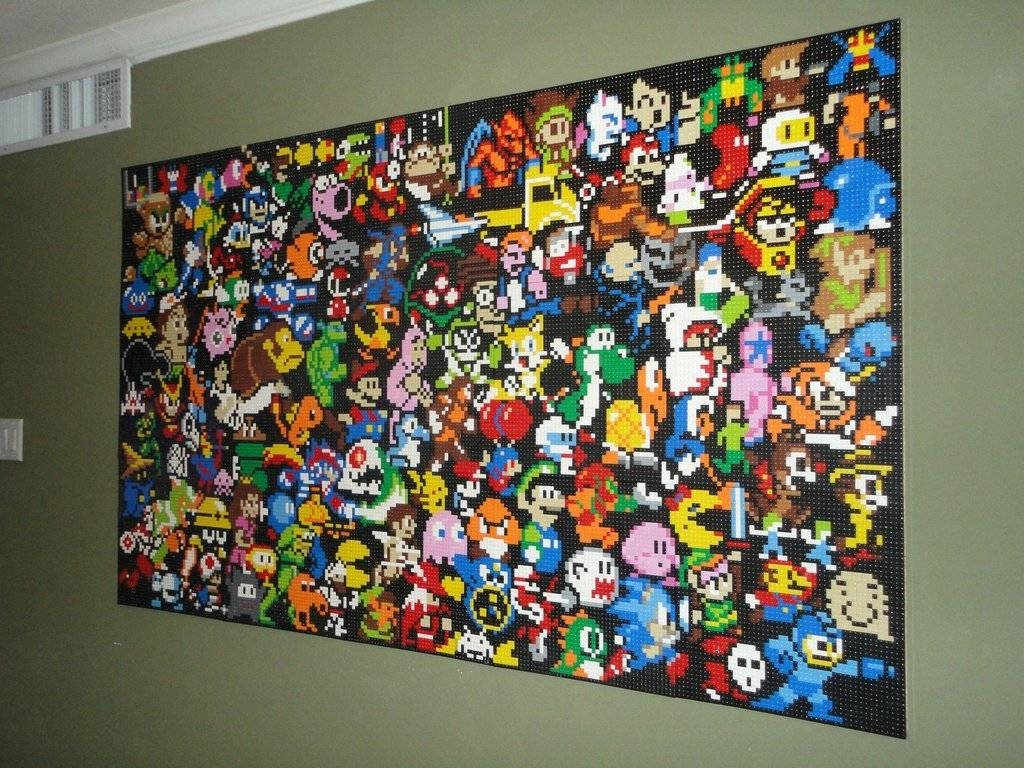 This Lego Wall Mural Is An Epic Tribute To Video Games [Pic Pertaining To Most Recently Released Video Game Wall Art (View 20 of 30)