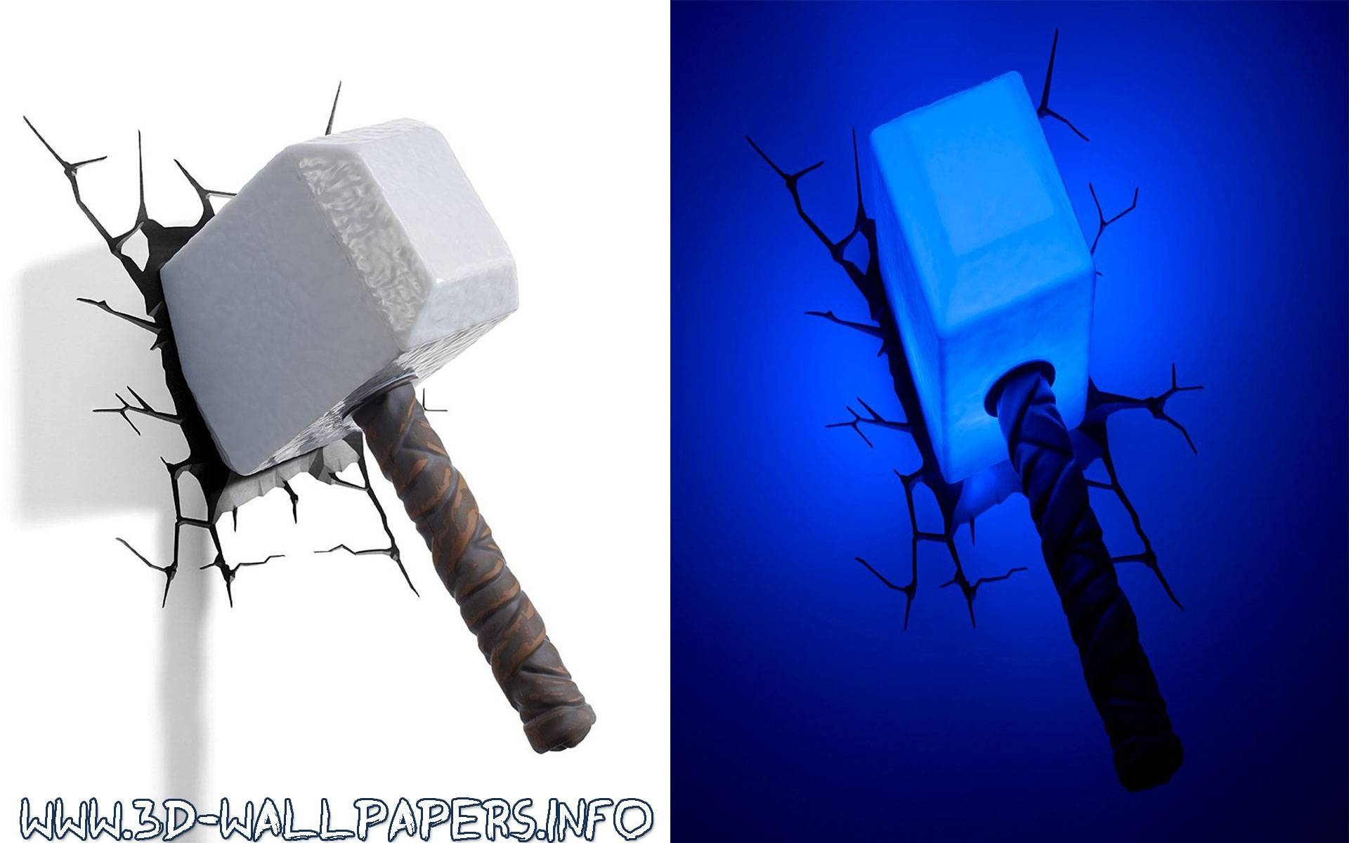 20 best ideas of 3d wall art thor hammer night light thor hammer 3d wall art decor night light lamp uk wallartideas with 2018 3d wall mozeypictures