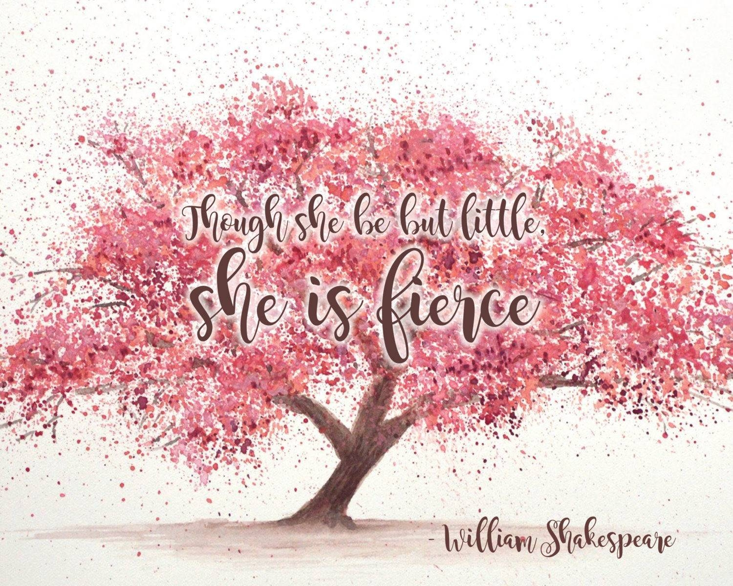 Though She Be But Little She Is Fierce Shakespeare Wall Art With Most Popular Shakespeare Wall Art (View 20 of 20)