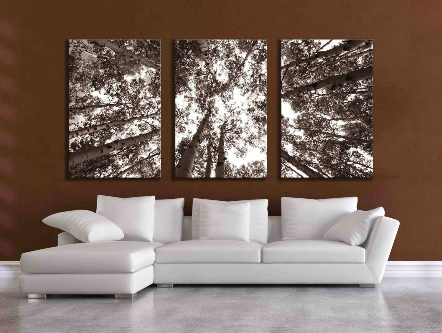 Three Large Multi Panel Wall Art Aspen 20X24 Inch Or 24X36 Intended For Best And Newest Aspen Tree Wall Art (View 2 of 20)