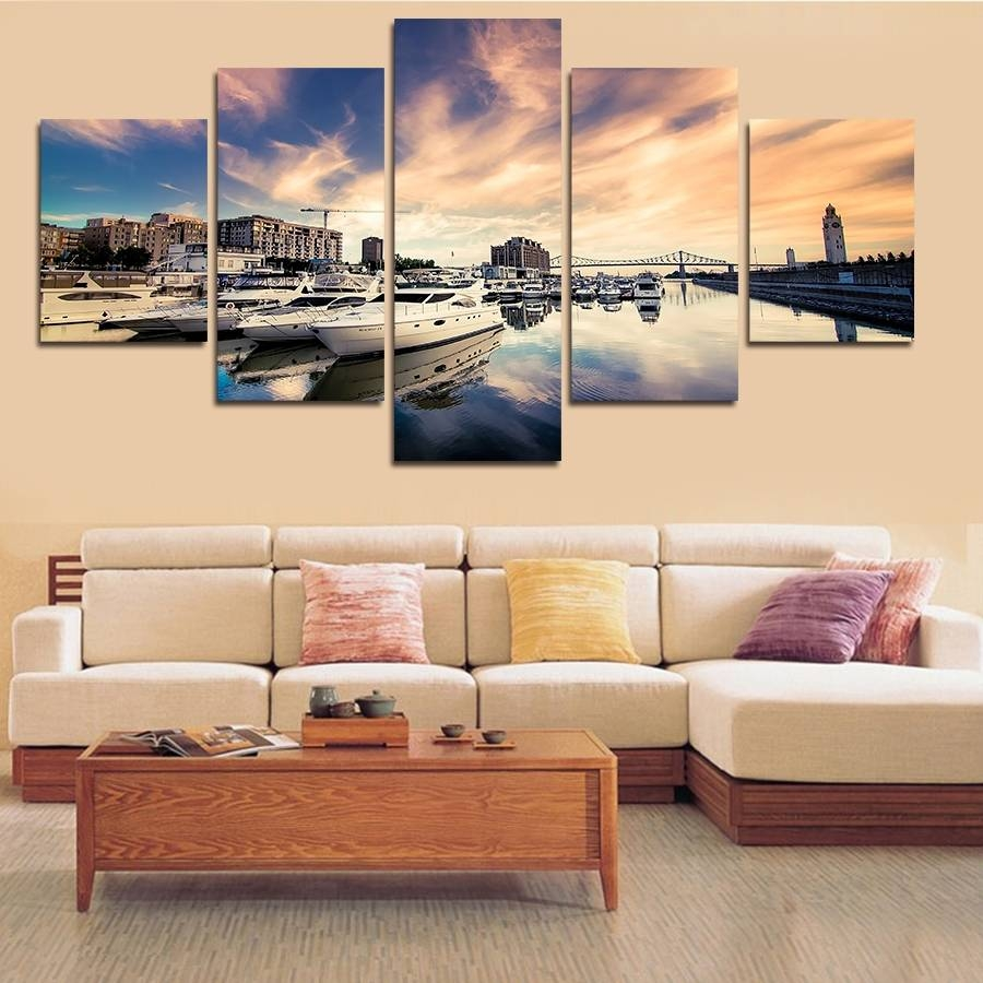 Thrifty Piece Wall Painting Sea Also Ship Big Size Wall Art Home Within 2017 Cheap Big Wall Art (View 9 of 20)