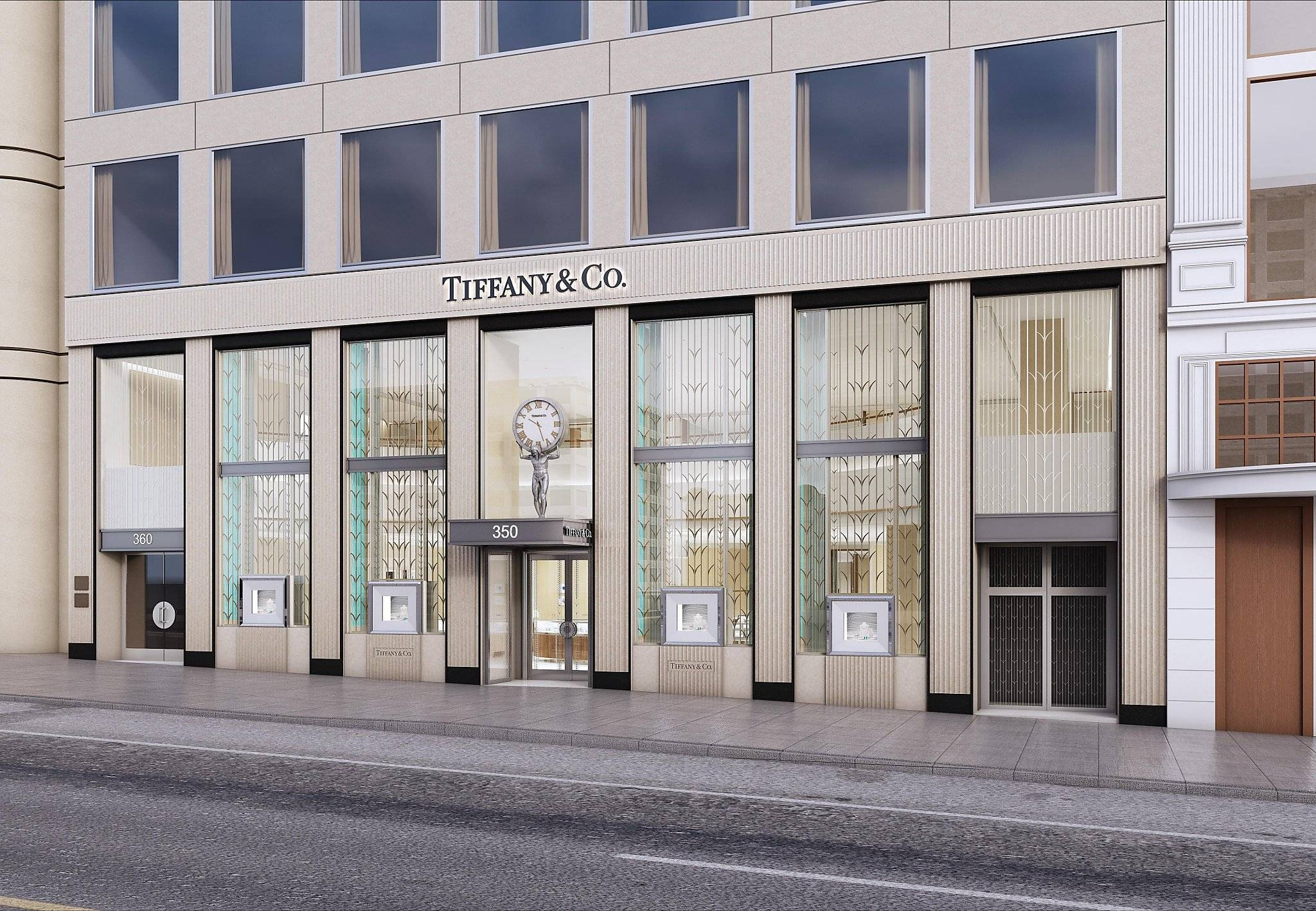 Tiffany's Splashy Union Square Remodel Unveiled – San Francisco Pertaining To Most Recent Tiffany And Co Wall Art (View 8 of 30)