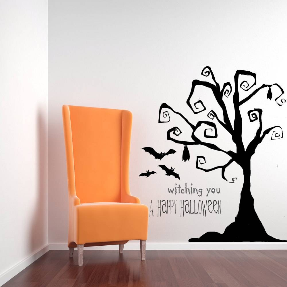 Tim Burton Decor Tree Wall Decal Tree Decal Halloween Tree With Best And Newest Tim Burton Wall Decals (View 14 of 20)