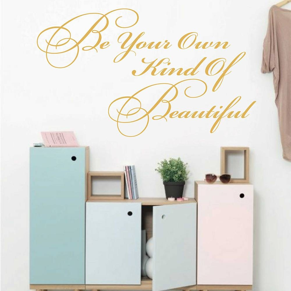 To Be Your Own Kind Of Beautiful Coco Chanel Quotes Wall Sticker Within Most Recently Released Coco Chanel Wall Decals (View 21 of 25)