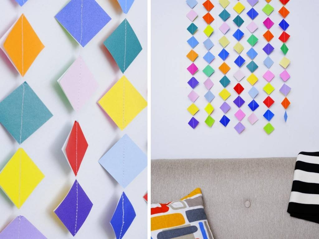 Top Wall Art Ideas To Decorate Blank Walls – Simple Diy Ideas Throughout Most Current 3d Triangle Wall Art (View 14 of 20)