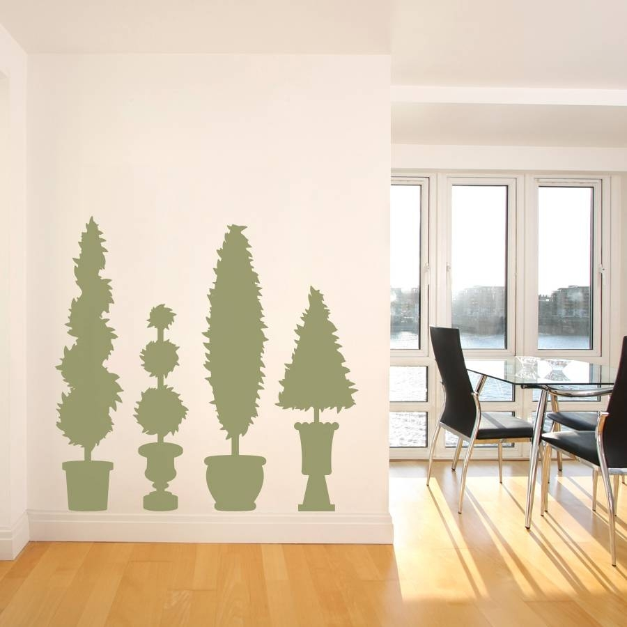 Topiary Wall Art Decal With Regard To Current Topiary Wall Art (View 2 of 30)