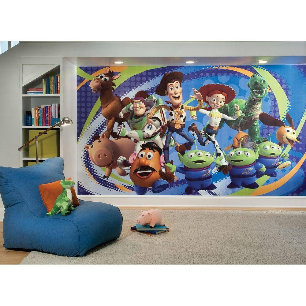 Toy Story 3 Chair Rail Prepasted Mural 6 Ft. X 10.5 Ft (View 3 of 25)