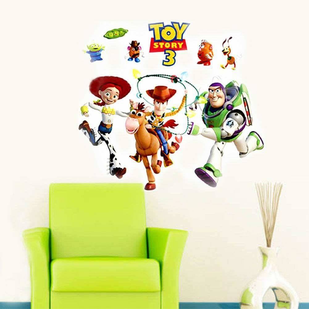 Toy Story 3 Wall Sticker Art Decals For Kids | Boys Room within Newest Toy Story Wall Stickers