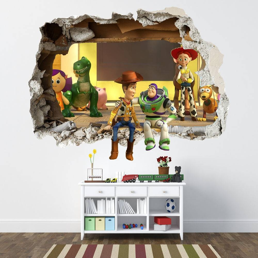 Toy Story Smashed Wall Sticker – Bedroom Boys Disney Vinyl Wall With Most Up To Date Toy Story Wall Stickers (Gallery 1 of 25)