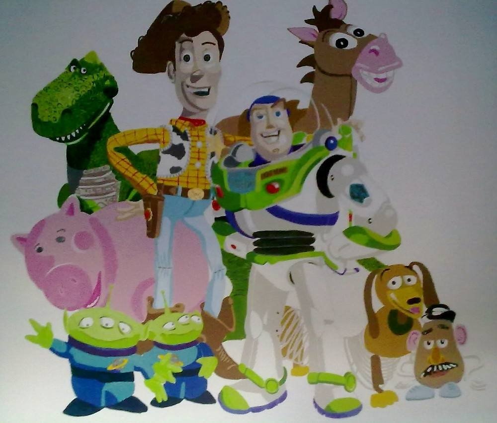 "Toy Story Wall Mural""smogmonkey 