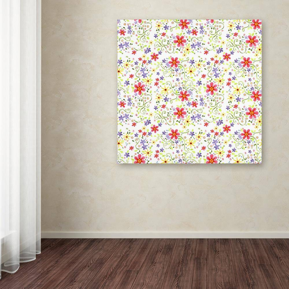 "Trademark Fine Art 24 In. X 24 In. ""vibrant Floral""jennifer Regarding Newest Vibrant Wall Art (Gallery 12 of 20)"