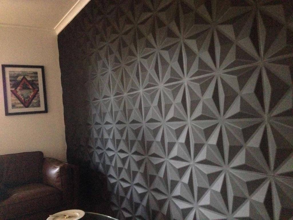 20 best ideas of 3d wall panels wall art. Black Bedroom Furniture Sets. Home Design Ideas