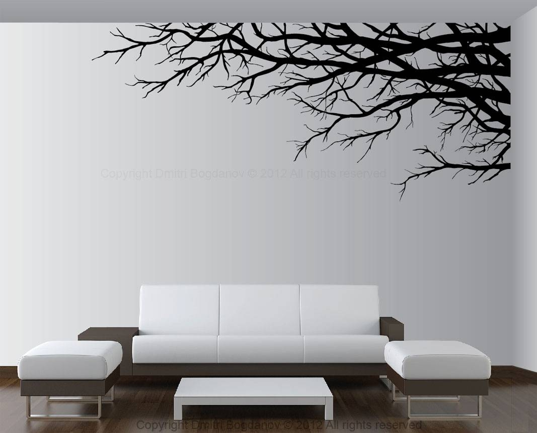 Tree Branch Wall Art Decal | Wallartideas For Current Tree Branch Wall Art (View 14 of 20)