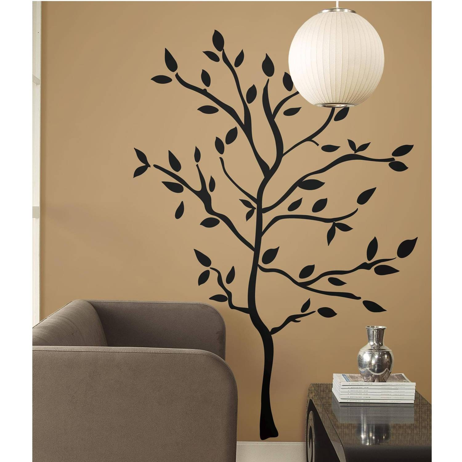 Tree Branches Peel And Stick Wall Decals – Walmart Regarding 2017 3d Wall Art Walmart (View 4 of 20)
