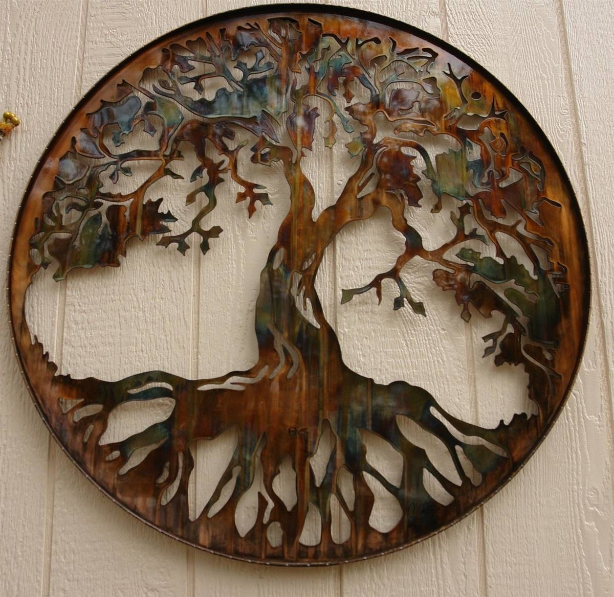"Tree Of Life Metal Wall Art 24"" With Led Lightshgmw With Regard To Current Metal Wall Art (View 24 of 30)"