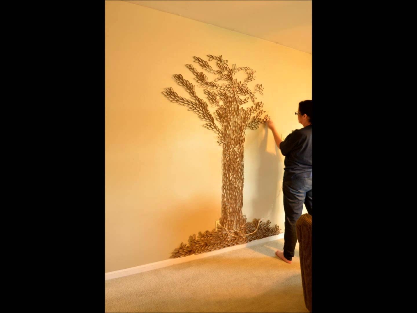 Tree Of Life Wall Art – 7Ft Paper Roll Sculpture In 1 Minute With Latest Tree Sculpture Wall Art (View 14 of 20)
