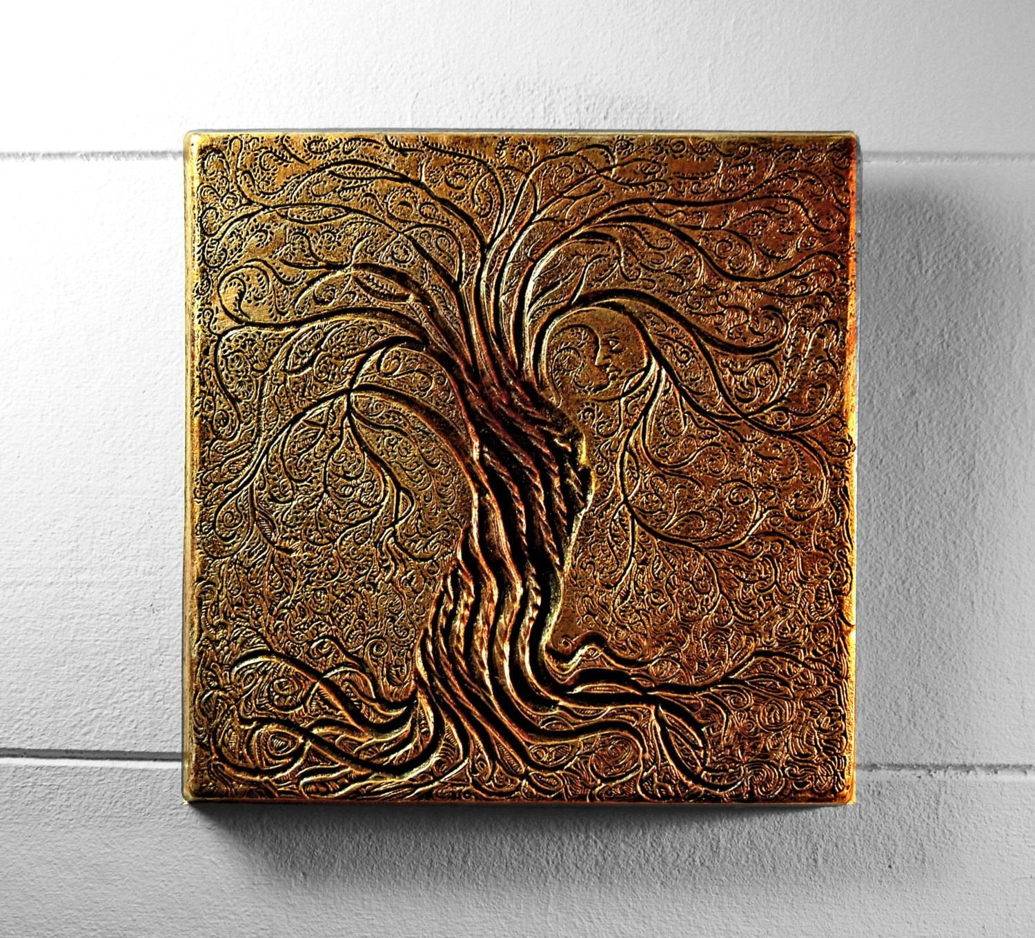 Tree Of Life Wall Art Sculpture Rustic Gift Bronze Tree In Newest Bronze Tree Wall Art (View 6 of 25)