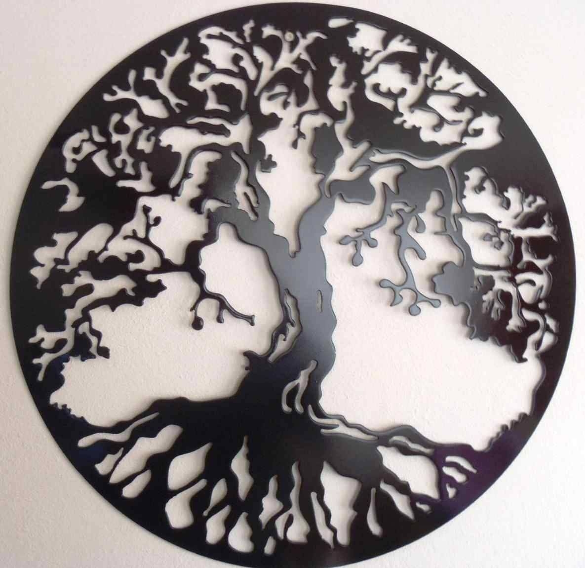 Tree Wall Art Sculptures The Oak Tree Metal Art Accent Decor With Most Up To Date Metal Oak Tree Wall Art (View 28 of 30)