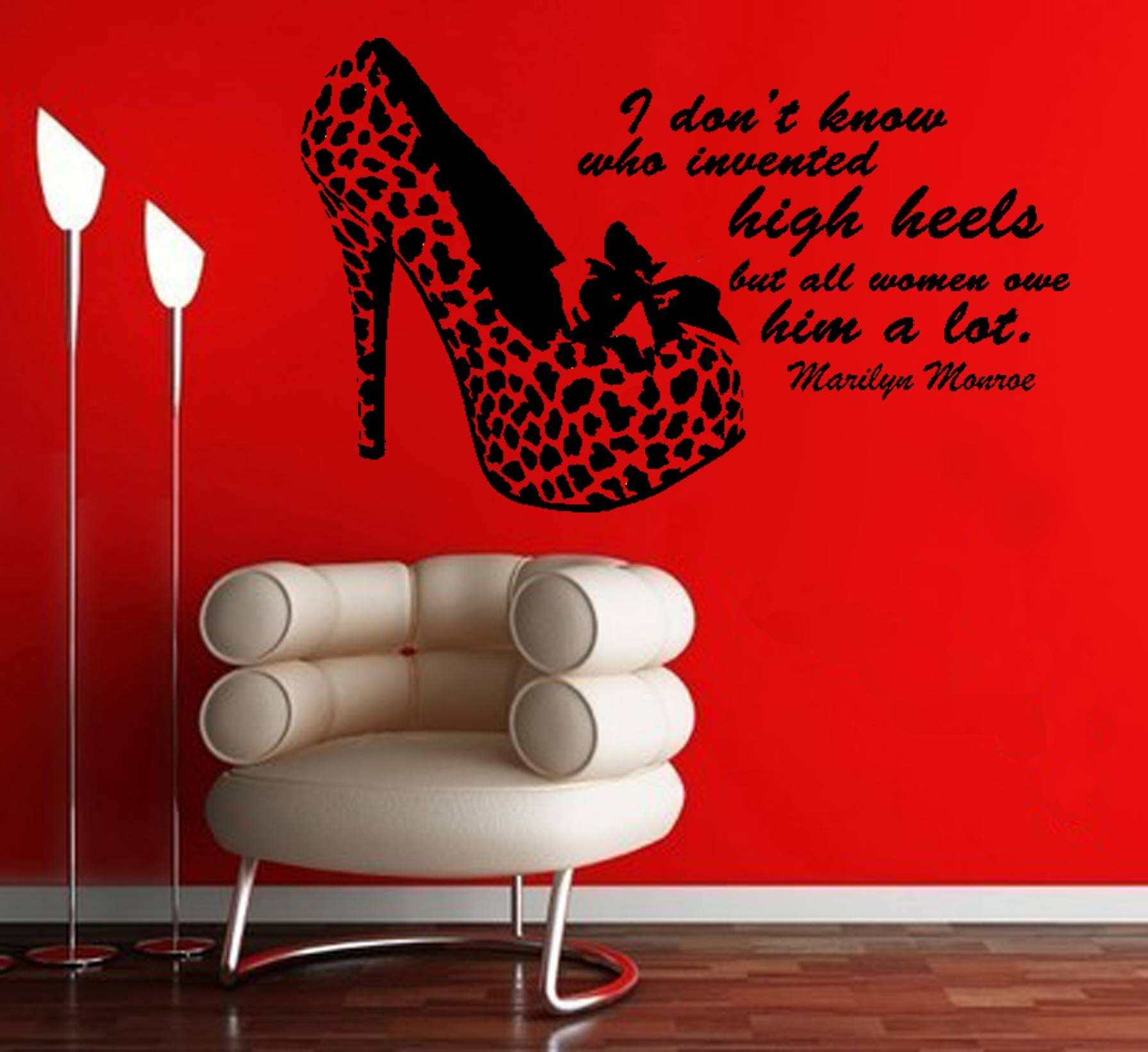 Trendy Marilyn Monroe Quote Decal High Heels Wall Sticker I Do Not With Regard To 2018 Marilyn Monroe Wall Art Quotes (View 11 of 25)
