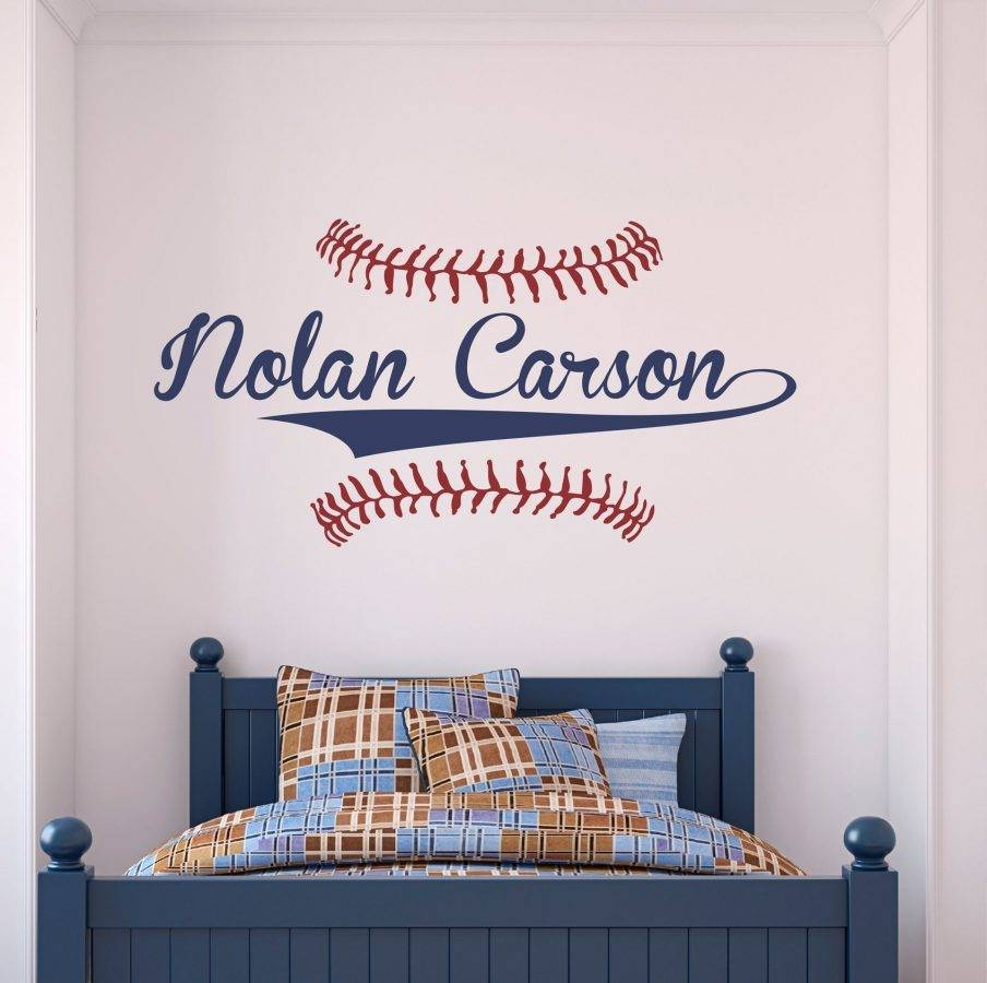 Trendy Vintage Baseball Wall Art Picture Of Personalized Name Wall Regarding 2017 Vintage Baseball Wall Art (View 2 of 30)