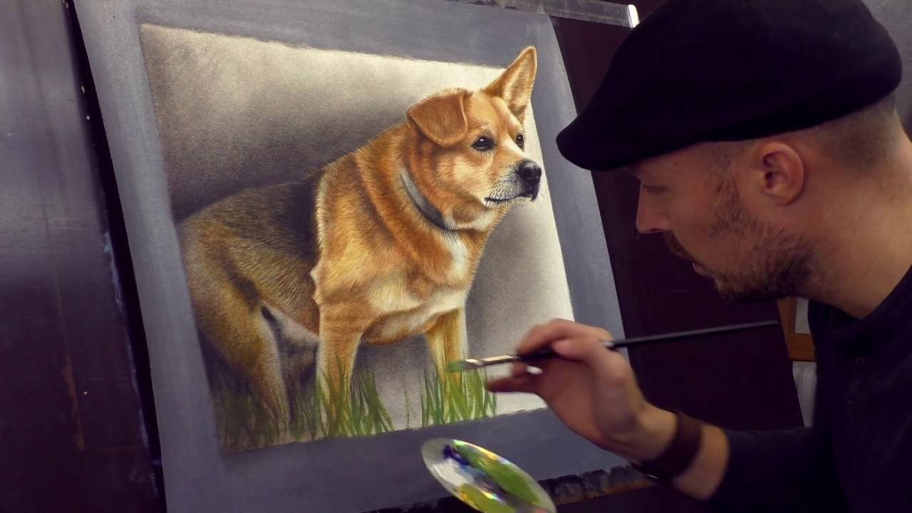 Trick Art 3d Painting Of A Dog From Photo /speed Drawing – Youtube With Regard To Latest Dogs 3d Wall Art (View 7 of 20)