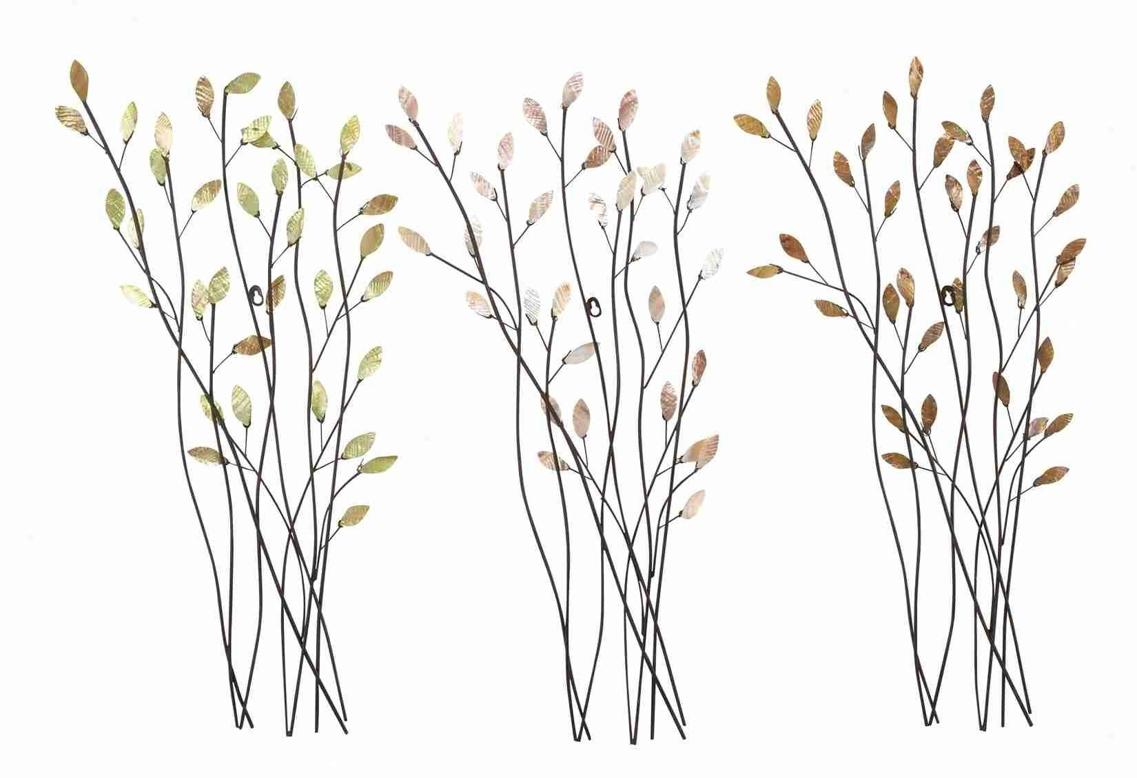 Trio Of Branches – Floral Metal Wall Art Inside Most Recent Kohl's Metal Wall Art (View 25 of 30)