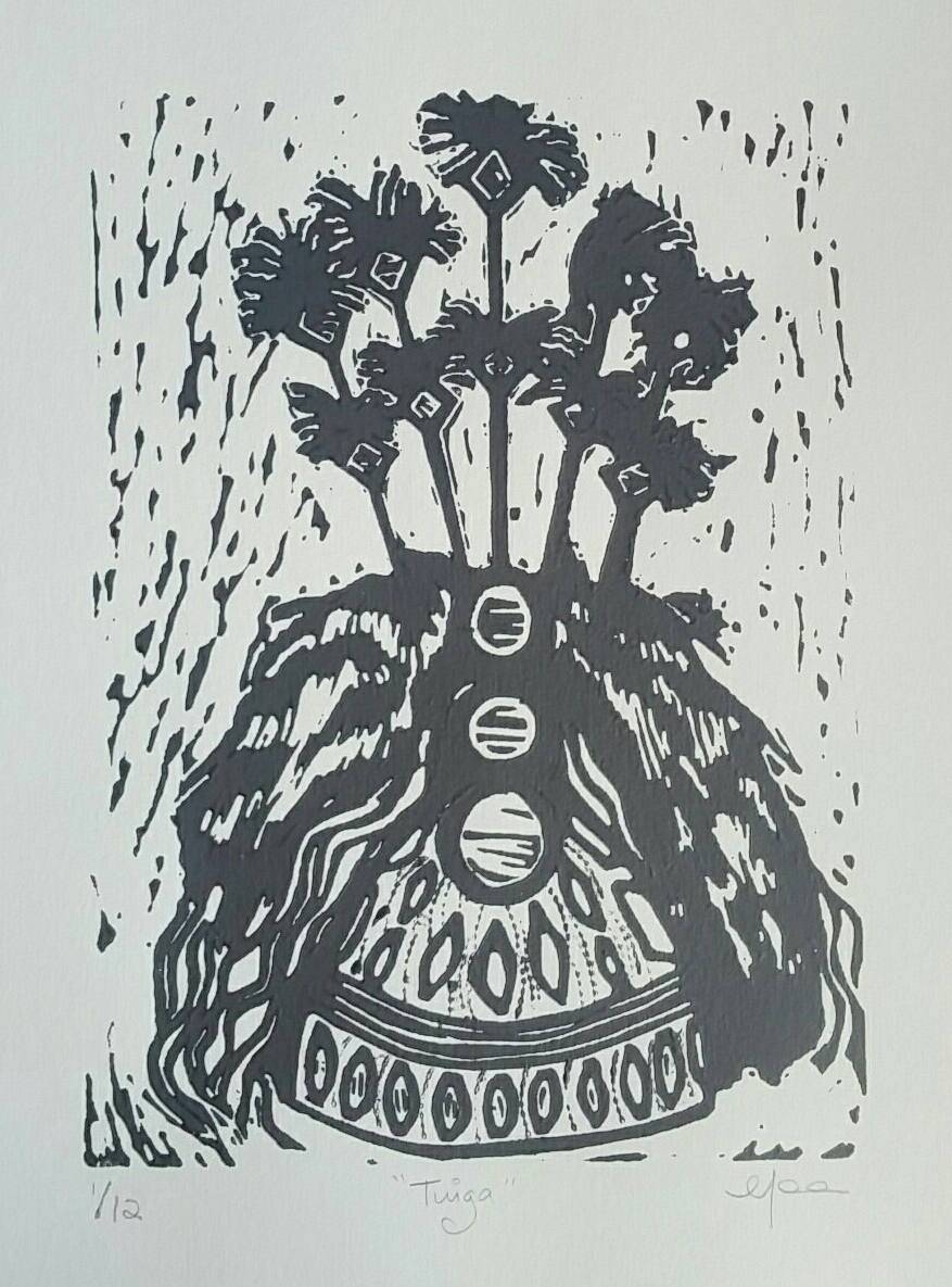 Tuigalinocut Print Linoprint Wall Art Samoan Samoa Inside Most Up To Date Polynesian Wall Art (View 17 of 20)