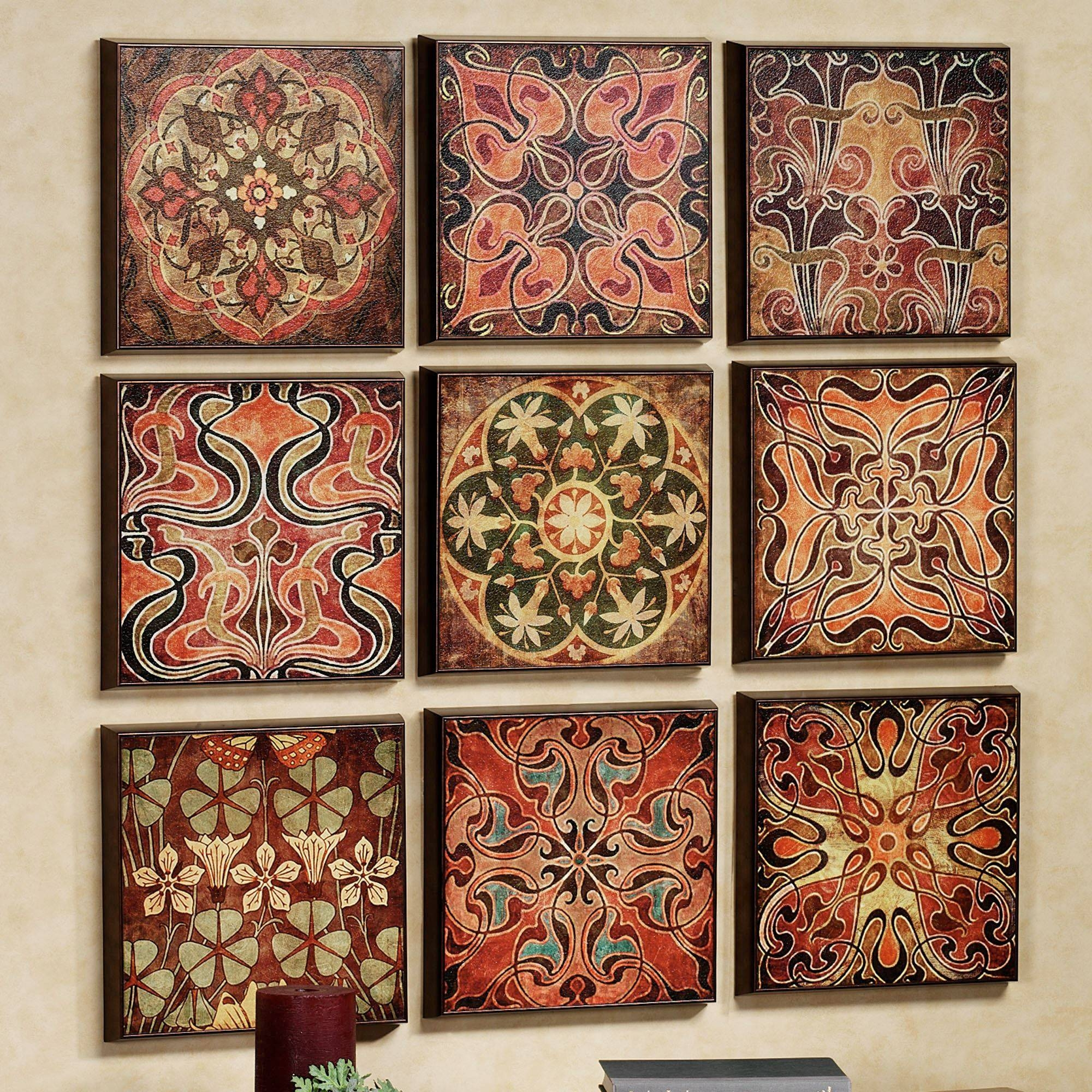 Tuscan 9 Pc Wall Panel Set In Most Recently Released Italian Wall Art Decor (View 16 of 30)