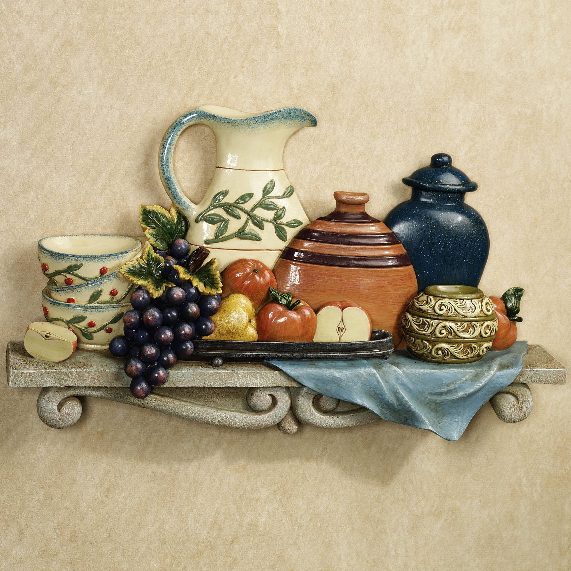 Tuscan Kitchen Wall Decor : Tuscan Décor For A Welcoming Ambience For Current Italian Ceramic Wall Clock Decors (View 24 of 25)