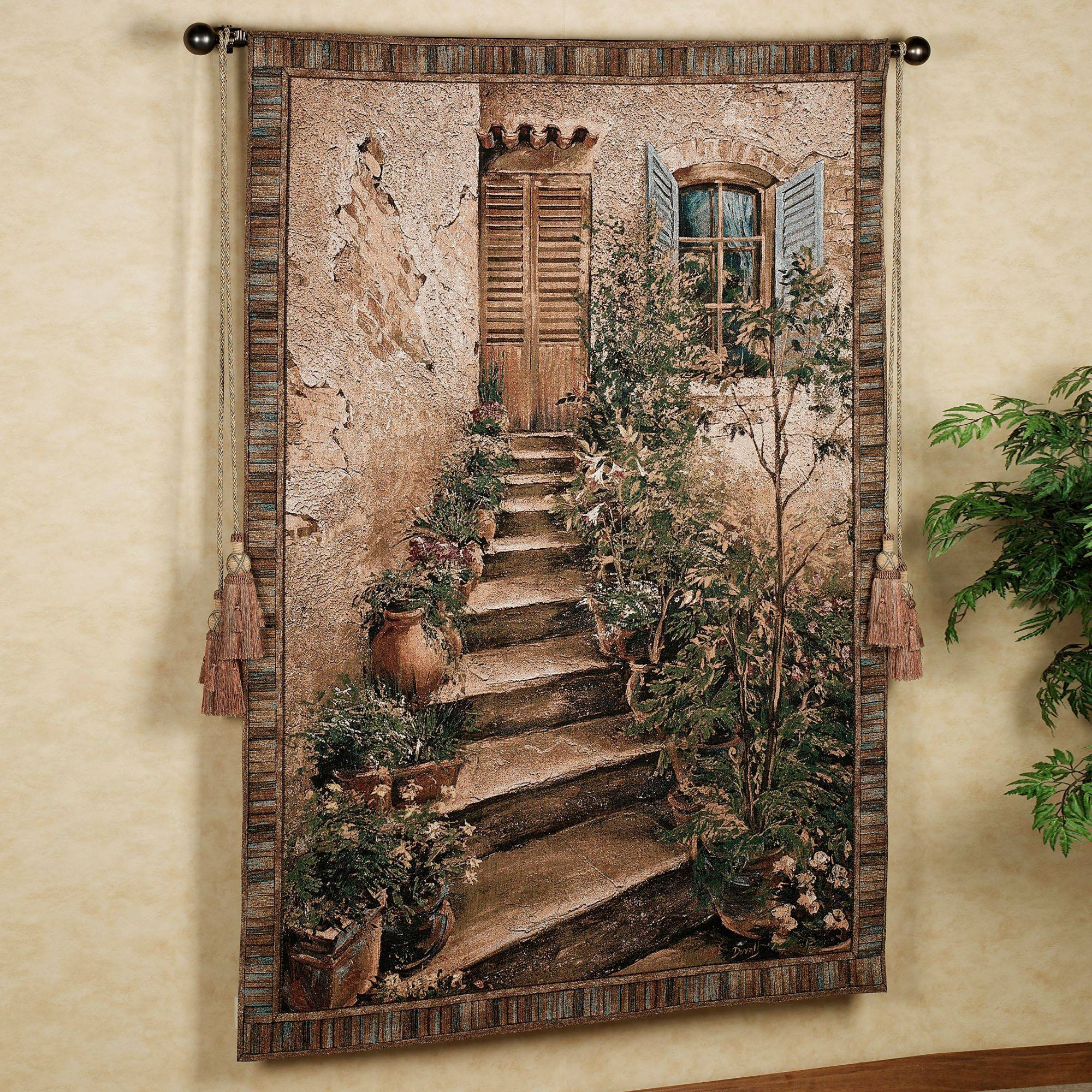 Tuscan Villa Ii Wall Tapestry Regarding Current Tuscany Wall Art (View 13 of 20)