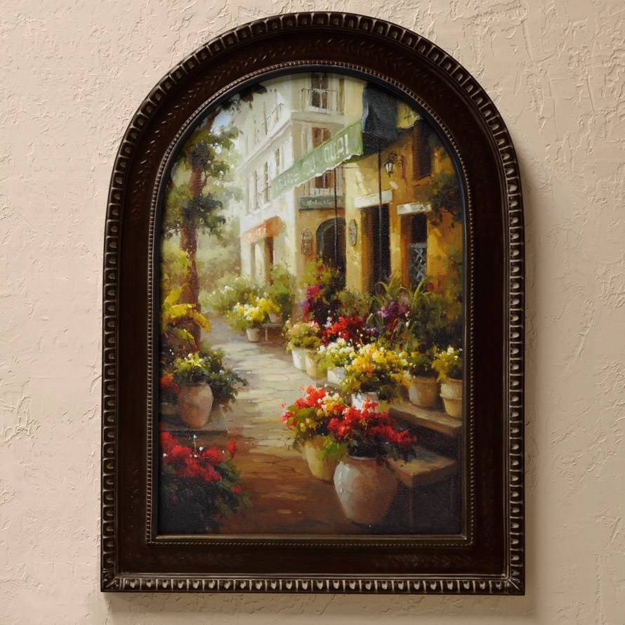 Tuscan Wall Art Chemin De Fleur With 2017 Tuscany Wall Art (View 9 of 20)