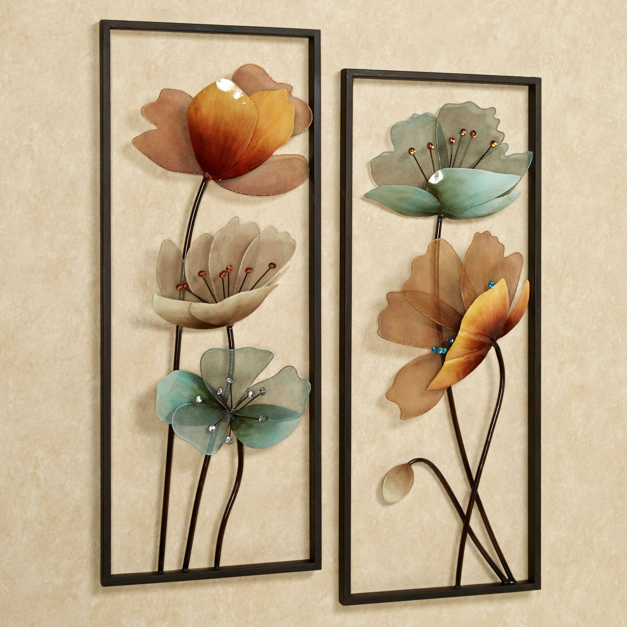 Tuscany In Bloom Floral Metal Wall Art Set Within Most Current Metallic Wall Art (View 22 of 25)