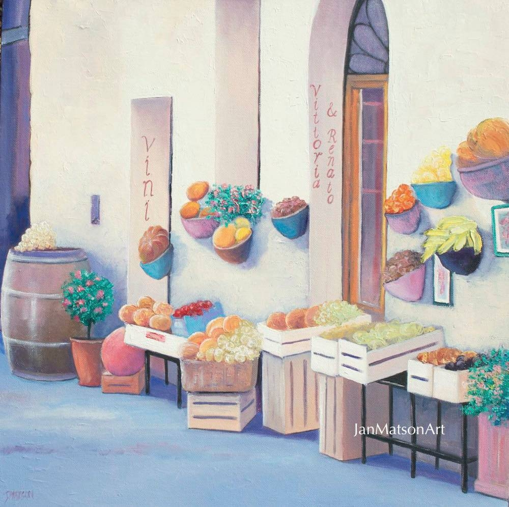 Tuscany Painting Canvas Art Italy Street Scenetuscan Wall With Most Recently Released Street Scene Wall Art (View 22 of 25)