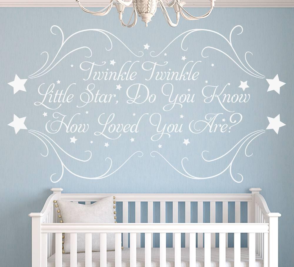 Twinkle Little Star Personalised Nursery Wall Sticker Inside Most Recent Nursery Wall Art (View 11 of 20)