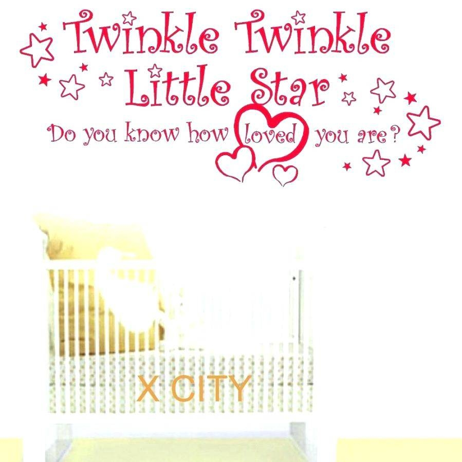 Twinkle Twinkle Wall Decal Wall Ideas Zoom Baby Wall Art Stickers Pertaining To Most Popular Personalized Baby Wall Art (View 14 of 20)