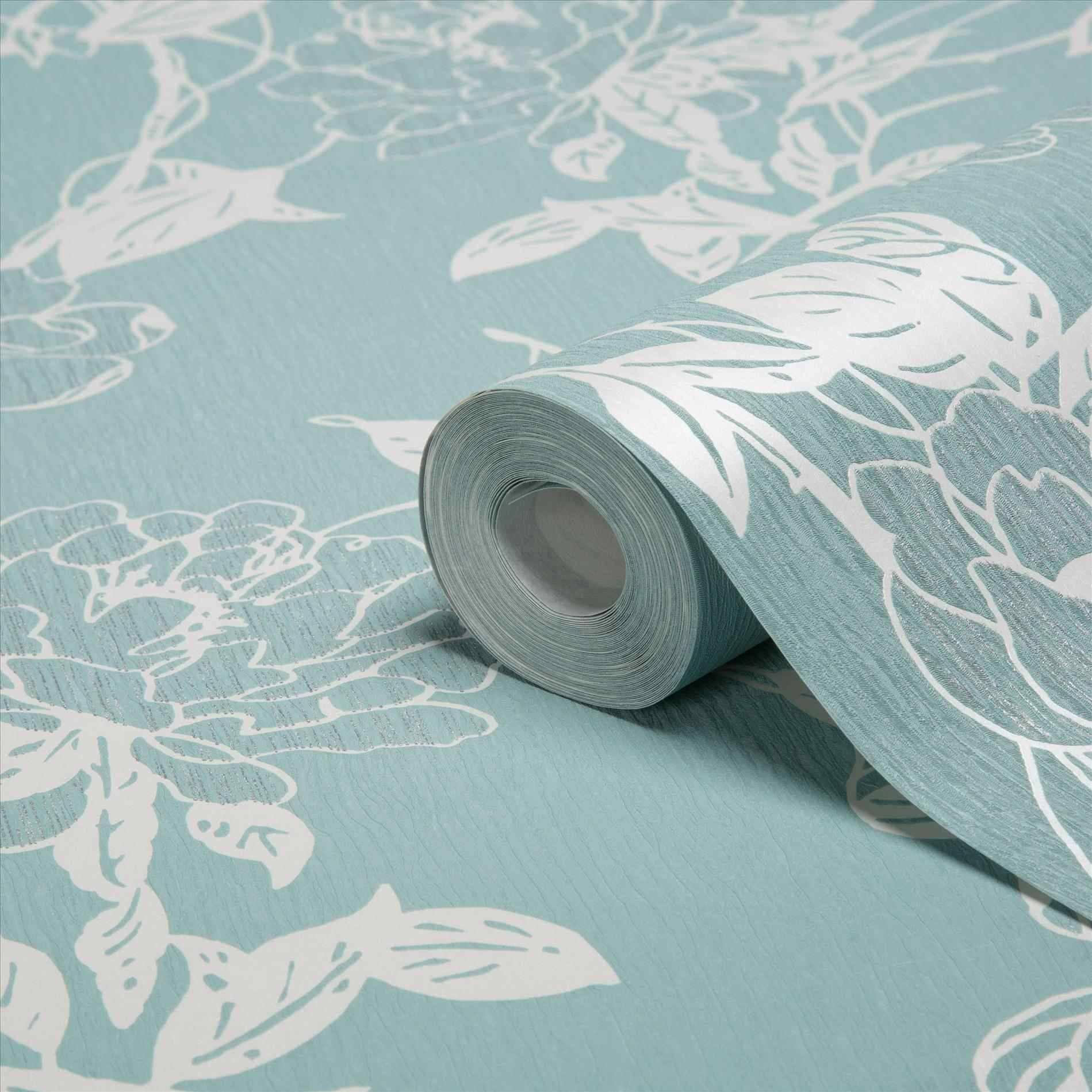 U Tree Duck Duck Egg Blue Wall Art Egg Blue Teal Wallpaper Owl with regard to Newest Duck Egg Blue Wall Art