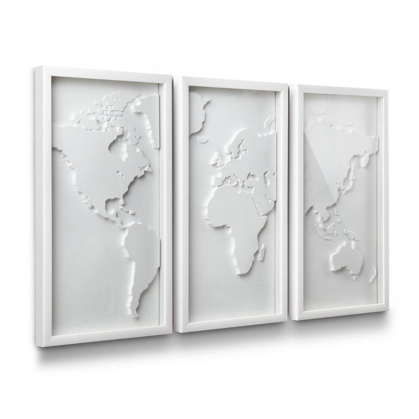 Umbra 470180 660 Mapster Wall Decor (set Of 3) | Lowe's Canada Intended For Current Umbra 3d Wall Art (View 2 of 20)